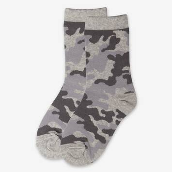 Camo Multi  Light Grey Socks  2 Pack