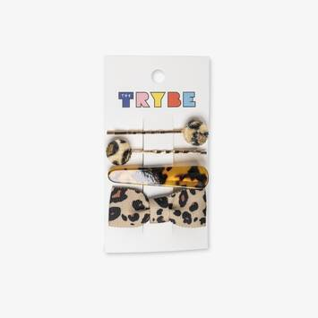 Leopard Fashion Hair Clips: 4 Pack