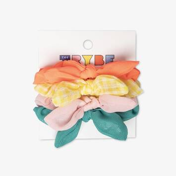 Mini Bow Scrunchie: 4 Pack