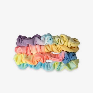 Tie Dye Mini Scrunchie: 4 Pack