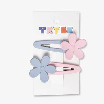 Soft Touch Flower Hair Clips