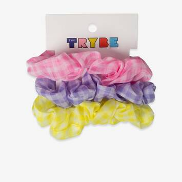 3 Pack Gingham Scrunchies