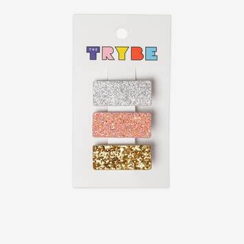 3 PackGlitter Hair Clips