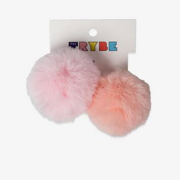 2 Pack Pom Pom Hair Ties