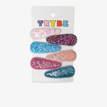 6 Pack Glitter Hair Clips