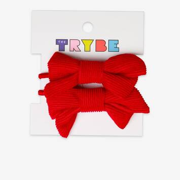 Red Bow Hair Tie 2 pack
