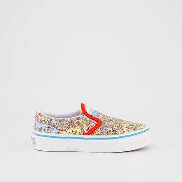 Classic Slip-On (Find Steve) Vans X Where's Waldo?